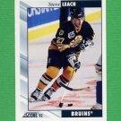 1992-93 Score Hockey #054 Steve Leach - Boston Bruins