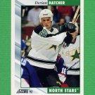 1992-93 Score Hockey #051 Derian Hatcher - Minnesota North Stars