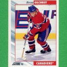 1992-93 Score Hockey #046 Brent Gilchrist - Montreal Canadiens