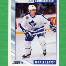 1992-93 Score Hockey #035 Ken Baumgartner - Toronto Maple Leafs