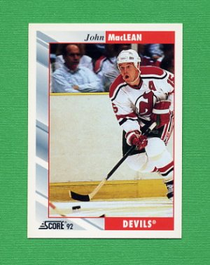 1992-93 Score Hockey #030 John MacLean - New Jersey Devils