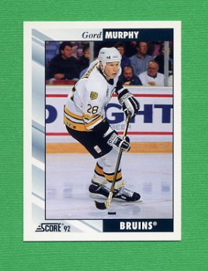 1992-93 Score Hockey #029 Gord Murphy - Boston Bruins