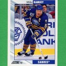1992-93 Score Hockey #028 Mike Ramsey - Buffalo Sabres