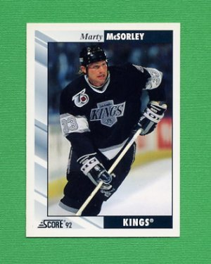 1992-93 Score Hockey #026 Marty McSorley - Los Angeles Kings