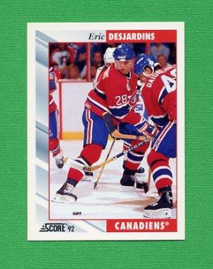 1992-93 Score Hockey #023 Eric Desjardins - Montreal Canadiens
