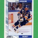 1992-93 Score Hockey #022 Paul Cavallini - St. Louis Blues