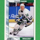 1992-93 Score Hockey #018 Murray Craven - Hartford Whalers