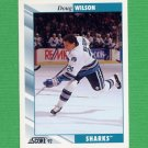 1992-93 Score Hockey #015 Doug Wilson - San Jose Sharks