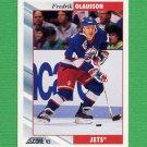 1992-93 Score Hockey #013 Fredrik Olausson - Winnipeg Jets