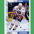 1992-93 Score Hockey #012 Steve Thomas - New York Islanders