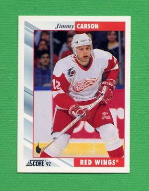 1992-93 Score Hockey #009 Jimmy Carson - Detroit Red Wings