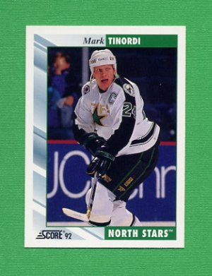 1992-93 Score Hockey #007 Mark Tinordi - Minnesota North Stars