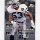 1995 Fleer Football #189 Rob Fredrickson - Oakland Raiders