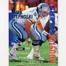 1995 Fleer Football #154 Mark Stepnoski - Houston Oilers