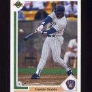 1991 Upper Deck Baseball #718 Franklin Stubbs - Milwaukee Brewers