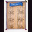 1991 Upper Deck Baseball #700 Checklist 601-700