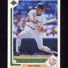 1991 Upper Deck Baseball #673 Matt Nokes - New York Yankees