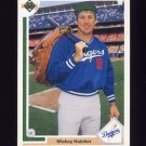1991 Upper Deck Baseball #666 Mickey Hatcher - Los Angeles Dodgers