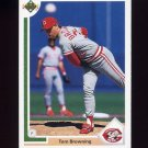 1991 Upper Deck Baseball #633 Tom Browning - Cincinnati Reds