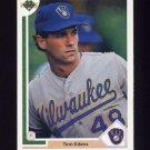 1991 Upper Deck Baseball #616 Tom Edens RC - Milwaukee Brewers