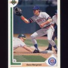 1991 Upper Deck Baseball #599 Dave Bergman - Detroit Tigers