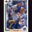 1991 Upper Deck Baseball #595 Dave Valle - Seattle Mariners