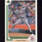 1991 Upper Deck Baseball #509 Greg A. Harris - Boston Red Sox
