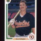1991 Upper Deck Baseball #508 Dave Gallagher - Baltimore Orioles