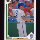 1991 Upper Deck Baseball #502 Bob Boone - Kansas City Royals