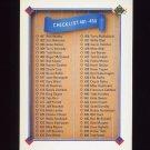 1991 Upper Deck Baseball #500 Checklist 401-500