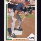 1991 Upper Deck Baseball #499 Jeff Treadway - Atlanta Braves
