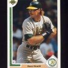 1991 Upper Deck Baseball #442 Dann Howitt - Oakland A's