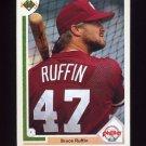 1991 Upper Deck Baseball #410 Bruce Ruffin - Philadelphia Phillies
