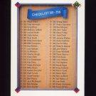 1991 Upper Deck Baseball #400 Checklist 301-400