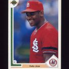 1991 Upper Deck Baseball #387 Felix Jose - St. Louis Cardinals