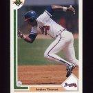 1991 Upper Deck Baseball #384 Andres Thomas - Atlanta Braves