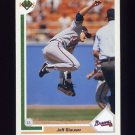 1991 Upper Deck Baseball #382 Jeff Blauser - Atlanta Braves