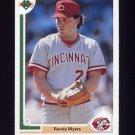 1991 Upper Deck Baseball #371 Randy Myers - Cincinnati Reds