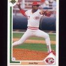 1991 Upper Deck Baseball #298 Jose Rijo - Cincinnati Reds