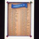 1991 Upper Deck Baseball #200 Checklist 101-200