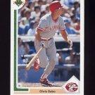 1991 Upper Deck Baseball #135 Chris Sabo - Cincinnati Reds
