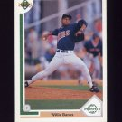 1991 Upper Deck Baseball #074 Willie Banks - Minnesota Twins