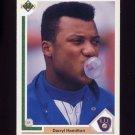 1991 Upper Deck Baseball #042 Darryl Hamilton - Milwaukee Brewers