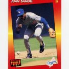 1992 Donruss Triple Play Baseball #125 Juan Samuel - Los Angeles Dodgers