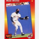 1992 Donruss Triple Play Baseball #095 Mark Whiten - Cleveland Indians