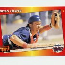 1992 Donruss Triple Play Baseball #076 Brian Harper - Minnesota Twins