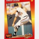 1992 Donruss Triple Play Baseball #013 Gregg Olson - Baltimore Orioles