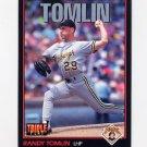 1993 Donruss Triple Play Baseball #197 Randy Tomlin - Pittsburgh Pirates