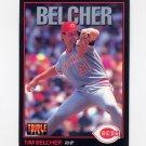 1993 Donruss Triple Play Baseball #163 Tim Belcher - Cincinnati Reds