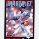 1993 Donruss Triple Play Baseball #161 Ramon Martinez - Los Angeles Dodgers
